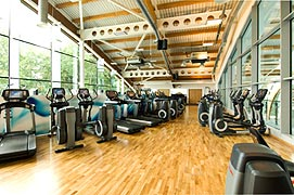 Gym with Wood Flooring